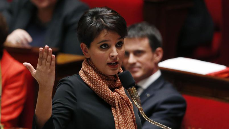 Le ministre de l'éducation nationale : Najat Vallaud-Belkacem